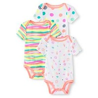 Oh Joy!® Newborn Girls' 3 Pack Bodysuit Set - White