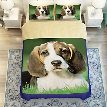 Cool Free shipping Novelty gift Beagle dog pattern bedding set Quilt duvet Cover pillow case for twin full queen kingAT_93_12
