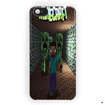 The Diamond  Minecraft Crepper For iPhone 5 / 5S / 5C Case
