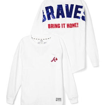 Atlanta Braves Bling Varsity Crew - PINK - Victoria's Secret