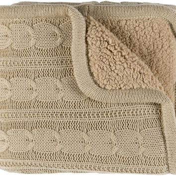 Tucker Textural Knitted Throw - Neutral