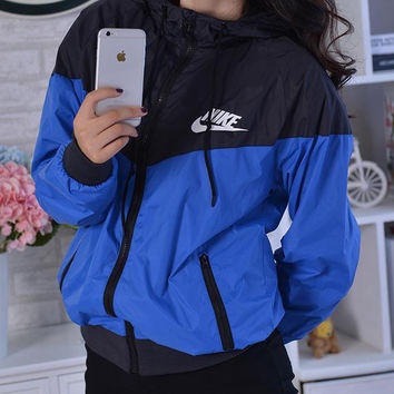 Nike Hooded Zip Cardigan Sweatshirt Jacket Coat Windbreaker Sportswear