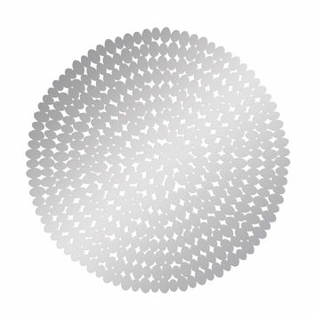 Stainless Steel Round Sculpture Looks Like A Medieval Armor