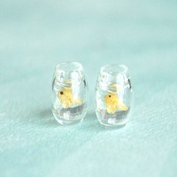 fishbowl stud earrings