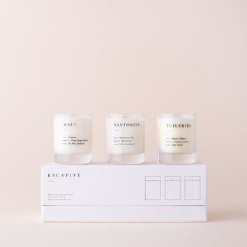 Pick 3 Escapist Mini Candle Set