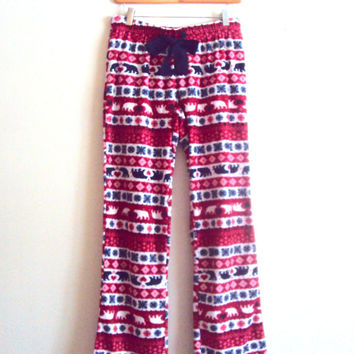 SALE! Christmas Pants Micro Polar Fleece Pants  Women Loose Fit Pants Pajama Pants Lounge Pants Gift For Her Ready to Ship!