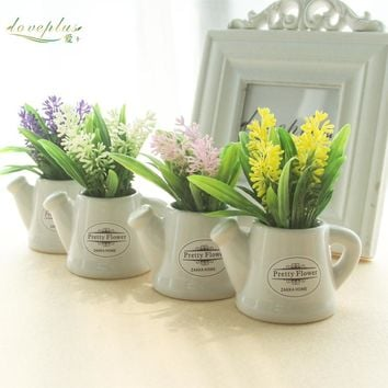 Potted Flowers Artificial Plant Decor