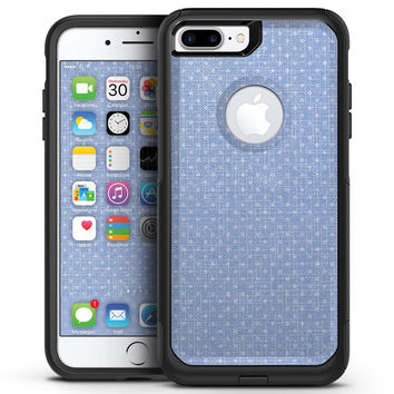 Micro Polka Dots Over Scratched Blue Fabric - iPhone 7 or 7 Plus Commuter Case Skin Kit
