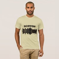 Boston Cityscape Mens Tee Shirt