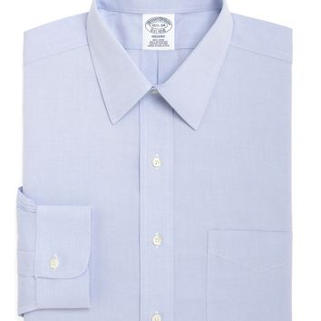 Men's Non-Iron Slim Fit Point Collar Dress Shirt | Brooks Brothers