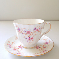 English Duchess Bone China Spinney Pattern Tea Cup and Saucer Cottage Style Tea Party