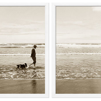 Robert Kennedy Walking His Dog Diptych, Photographs