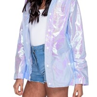 Iridescent Rain Mac | Attitude Clothing