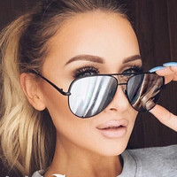 Aviator Sunglasses Mirror Luxury Brand Sunglasses