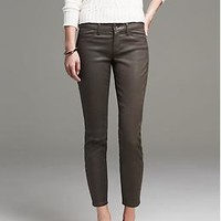 Coated Sateen Skinny Ankle Pant