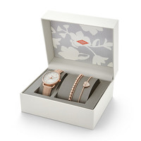 Tailor Multifunction Light Brown Leather Watch and Jewelry Box Set - $155.00