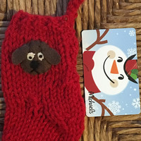 Dog Gift Card Holder, Dog Lovers Gift Card Stocking, miniature Christmas stocking, Pet Lover, Pet Sitter Gift, Dog Walker Gift, Dog ornament