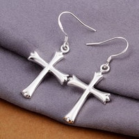 Pair of Cross Drop Earrings