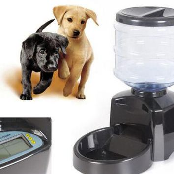 Automatic Dog Cat Feeder Pet Food Dispenser Programmable Timed Supplies Bowl New