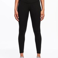 Go-Dry High-Rise 7/8 Compression Leggings for Women | Old Navy