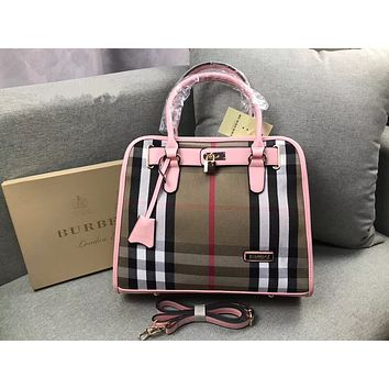 Burberry Women Shopping Bag Leather Tote Handbag Shoulder Bag
