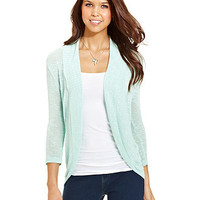 Sweater Project Juniors Sweater, Three-Quarter Sleeve Cocoon Cardigan - Juniors Sweaters - Macy's