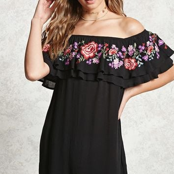 Off-the-Shoulder Shift Dress