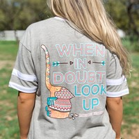 Jadelynn Brooke When in Doubt, Look Up (Grey) - Short Sleeve