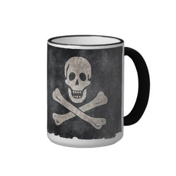 Pirate Skull and Crossbones Flag Coffee Mug
