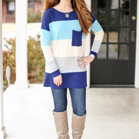 Wrapped in Color Top - Blue