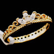 Delicate Gold Plated Princess Crown Ring