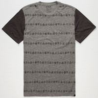 Kr3w Geo Stripe Mens T-Shirt Heather Grey  In Sizes