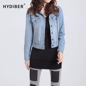 New Arrival Spring Winter Short Denim Jackets Vintage Casual Coat Autumn Denim Jacket For Women Jeans Plus Size 4XL Z6