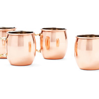 Shot Mugs, Copper, Set of 4, Moscow Mule Mugs