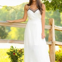 Adventure Awaits Maxi Dress-Ivory