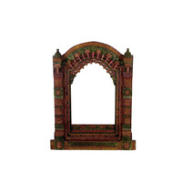 Multicolor Hand Painted Rajasthani Jharokha Mirror Frame - Wall Décor