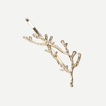 Golden Branch-shaped Hair Clip