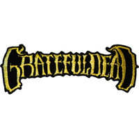 Grateful Dead Iron-On Patch 50th Anniversary Gold Letters Logo