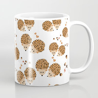 Hedgehogs in autumn Mug by VanessaGF