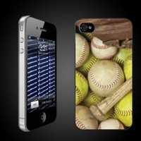 Baseball and Softball Picture iPhone Cover - Clear Protective Hard Case for iPhone 4/4s