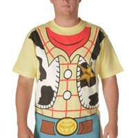 Toy Story Woody Cowboy Costume Banana Yellow Adult T-shirt