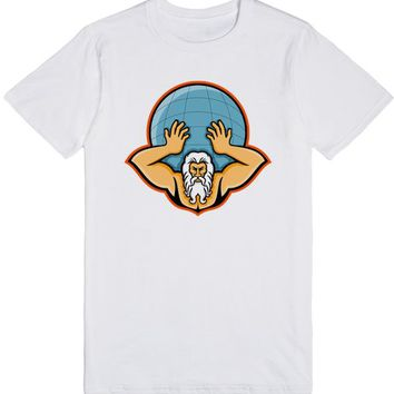 Atlas Holding Up World Mascot | T-Shirt | SKREENED