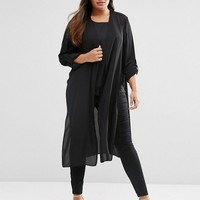 ASOS CURVE Maxi Kimono with Side Splits at asos.com