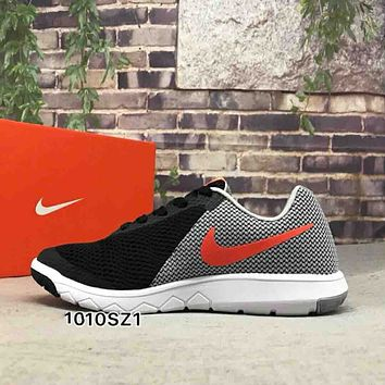 NIKE FLEX EXPERIENCE RN 6 Stylish Trending Men Leisure Color Matching Sport Running Shoe Sneakers Grey Black I-CSXY