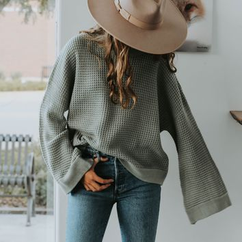 First Day of Fall Sweater (Sage) - SHIPS 10/21