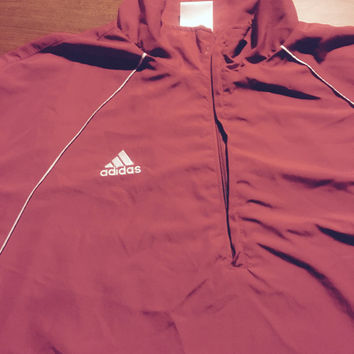 Vintage Red Addidas Track Jacket by BlackMagicCreations on Etsy