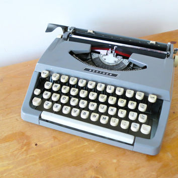 A 1960s Brother Retro Portable Typewriter. Simple and Practical Yet Classical Design.
