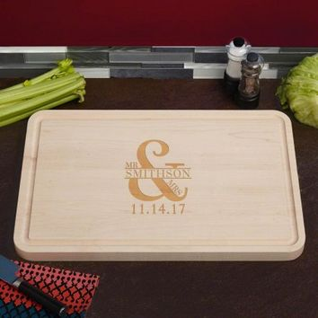 Love & Marriage Grandiose Engraved Maple Wood Cutting Board, 15 x 23