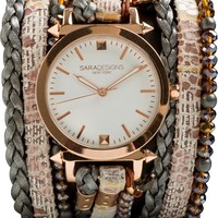 SARA DESIGNS LIL' CRYSTAL WRAP WATCH