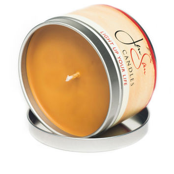 Caramel Apple Spice Travel Tin Soy Candle